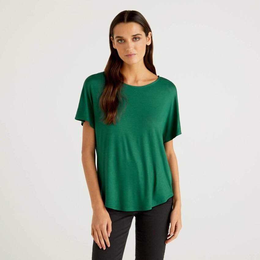 T-shirt in sustainable stretch viscose
