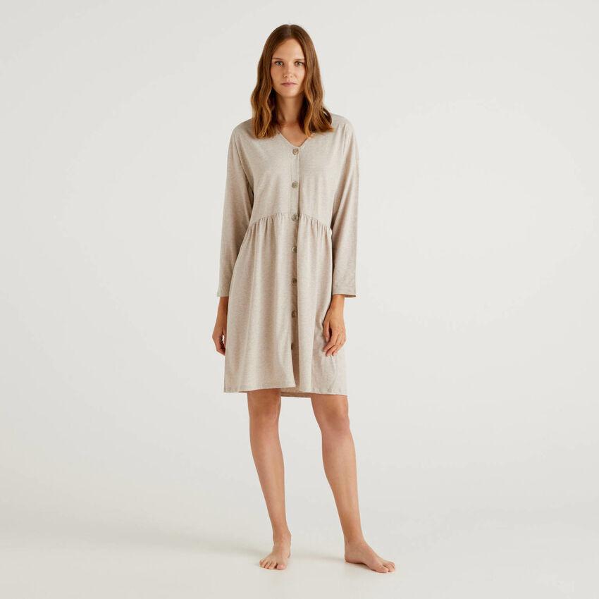 Nightshirt in long fiber cotton
