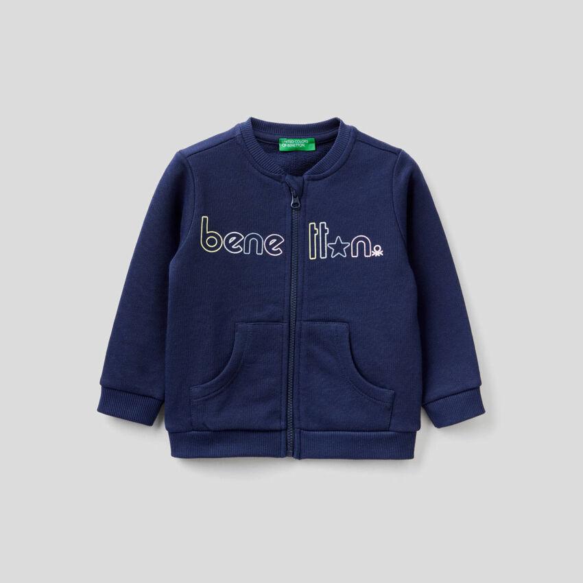 Pullover sweatshirt in organic cotton
