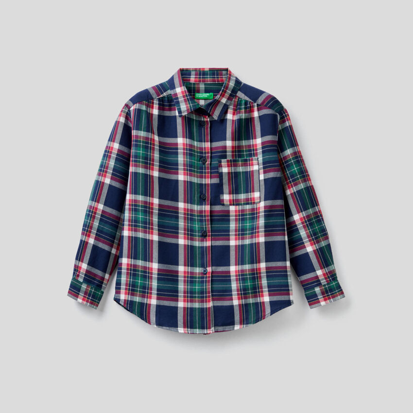 Check shirt in cotton blend