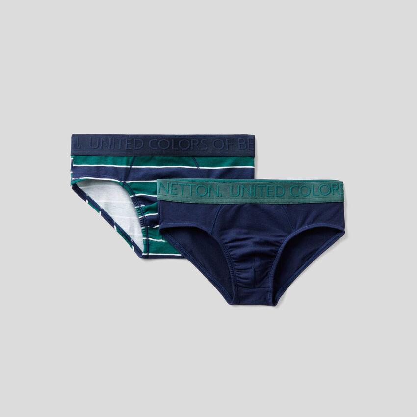 Two underwear in stretch cotton