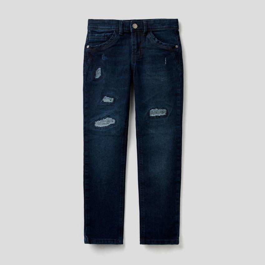 Worn look slim fit jeans
