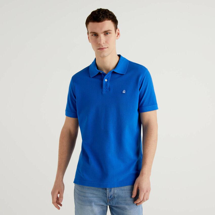 Cornflower blue regular fit polo
