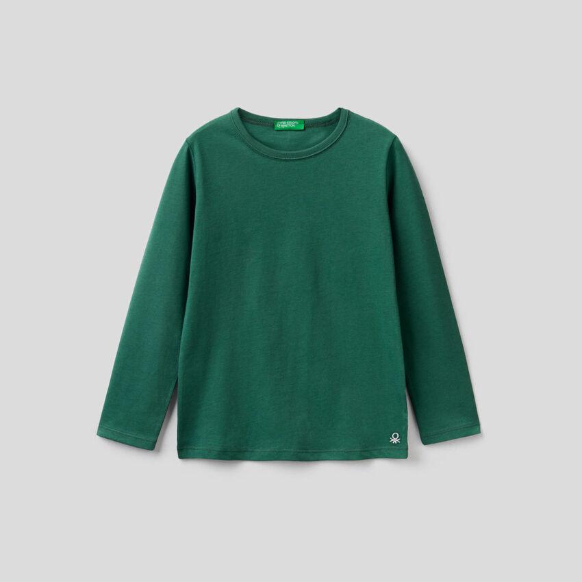Long sleeve dark green t-shirt