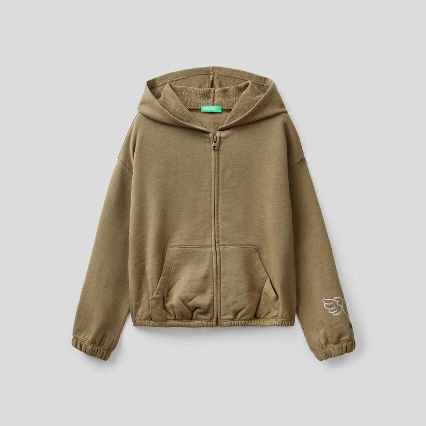 100% cotton cropped sweatshirt