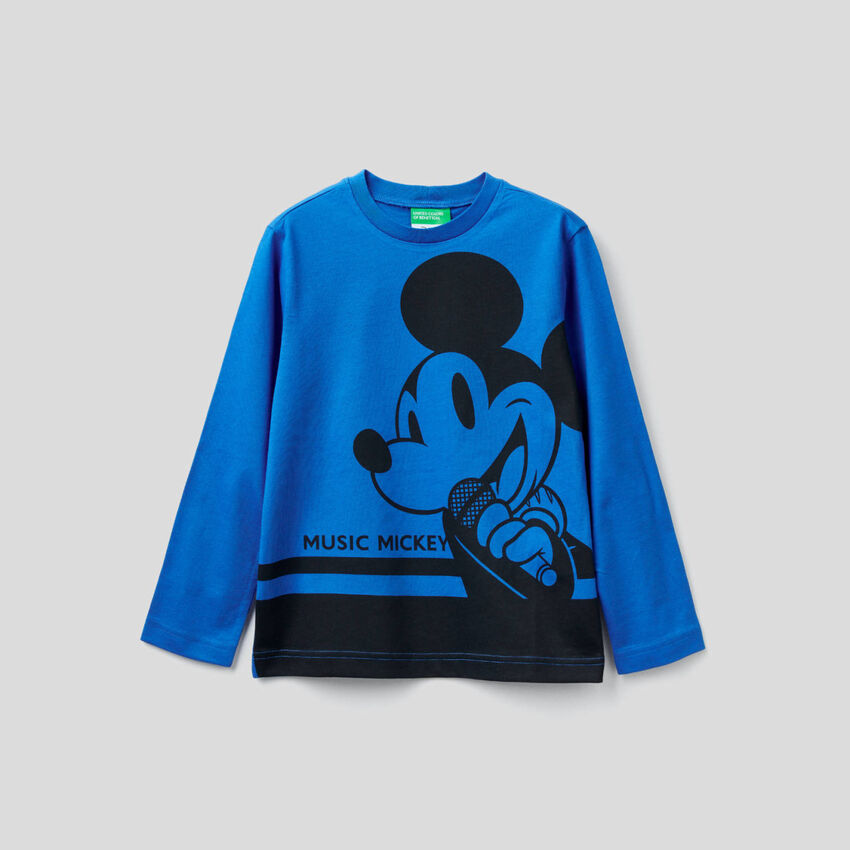 Long sleeve t-shirt with Mickey Mouse print