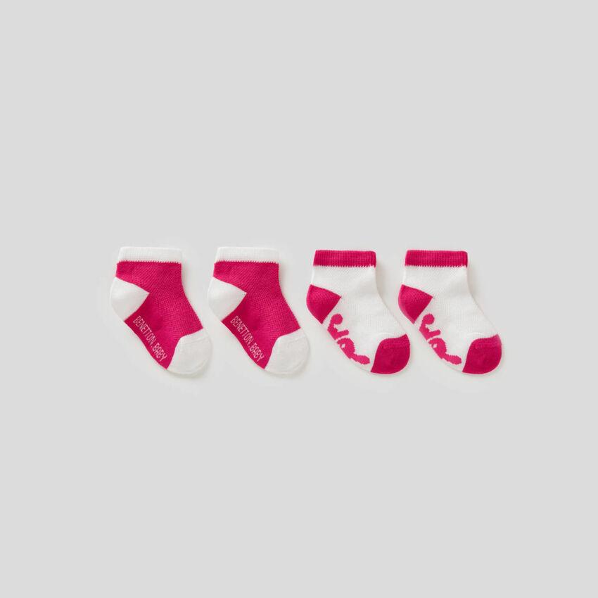 Two-tone sock set