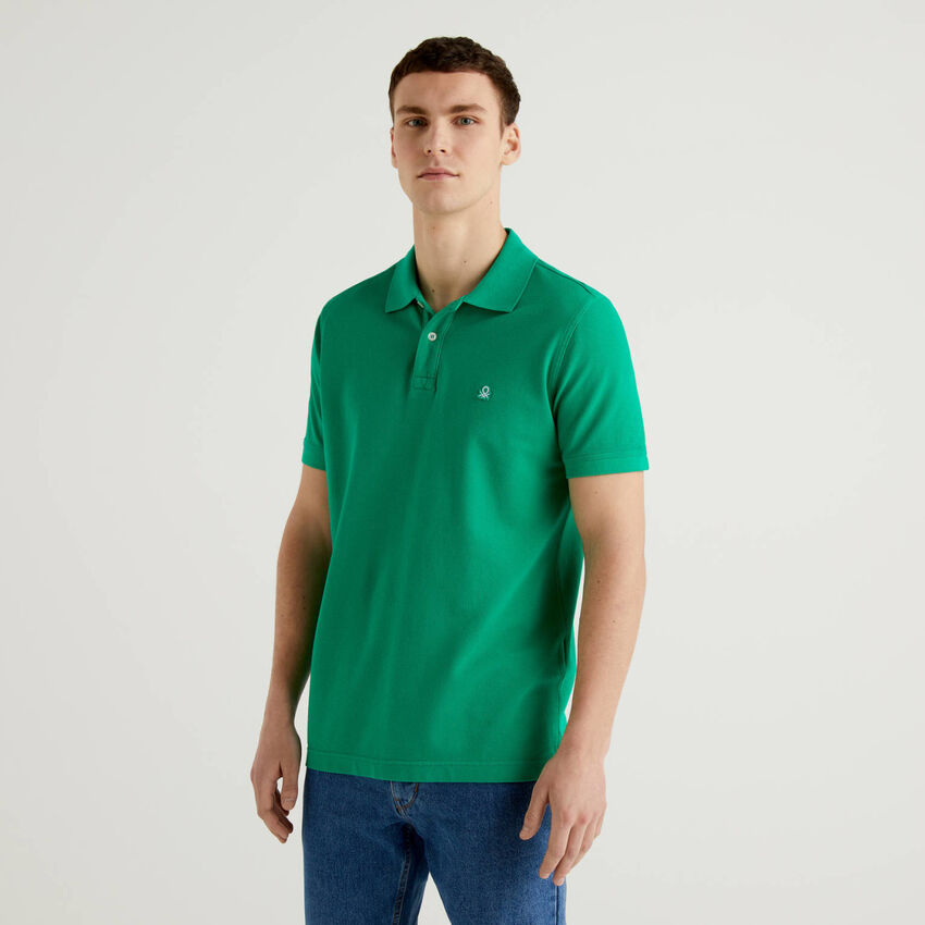 Green regular fit polo