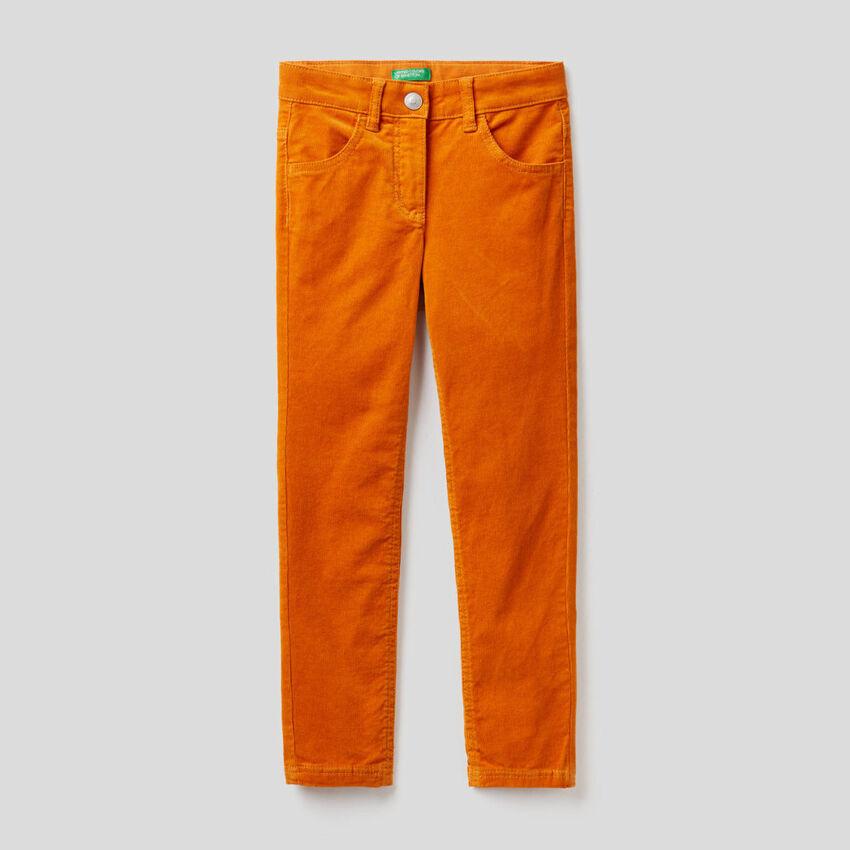 Stretch velvet trousers