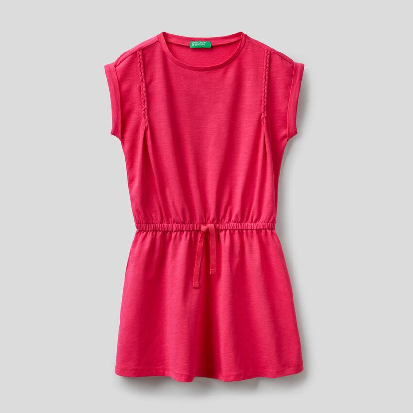 Dress in organic stretch cotton