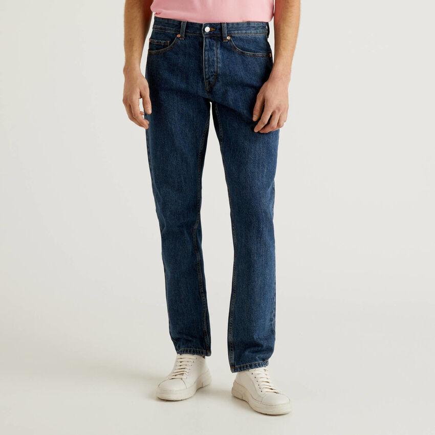 Straight leg 100% cotton jeans