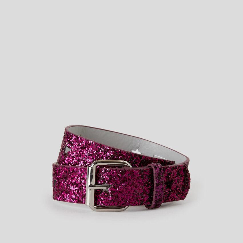 Glittery belt
