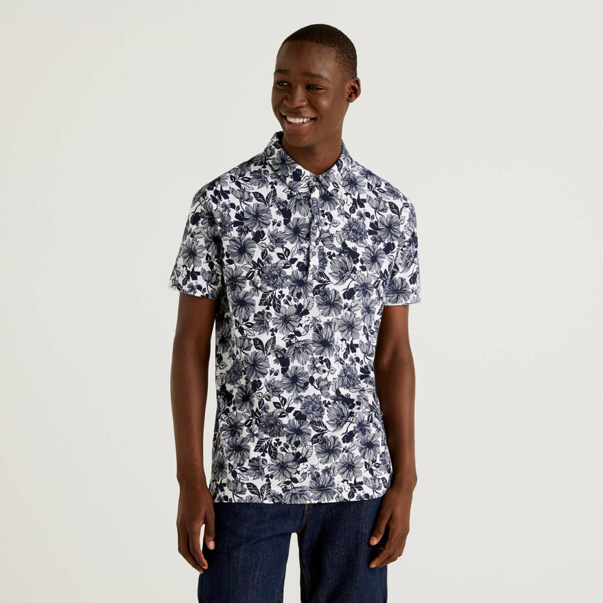 100% cotton patterned polo