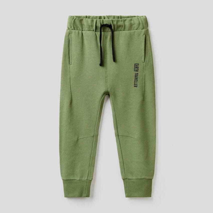 Military green 100% cotton sweatpants