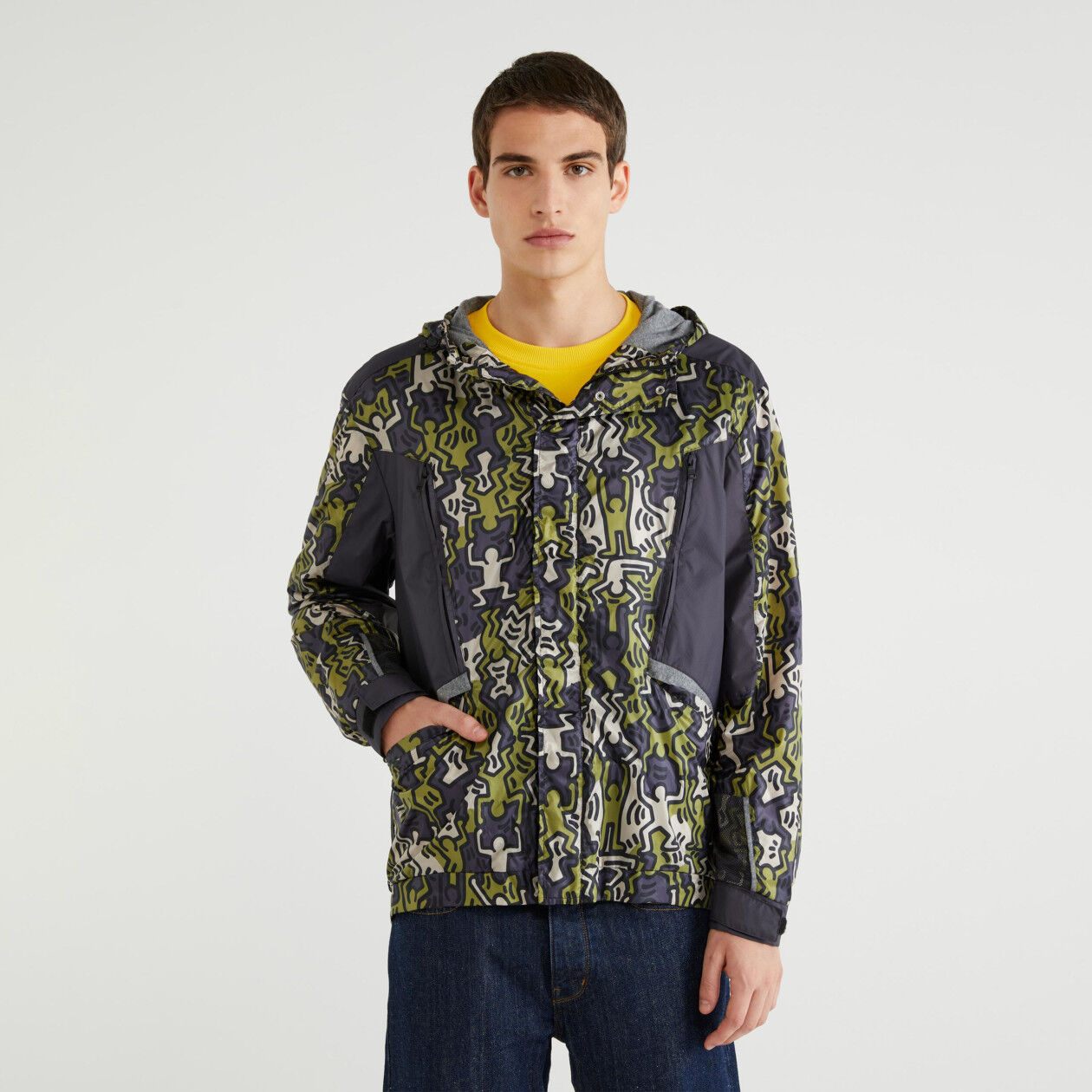 """Jacket with """"Keith Haring"""" print"""