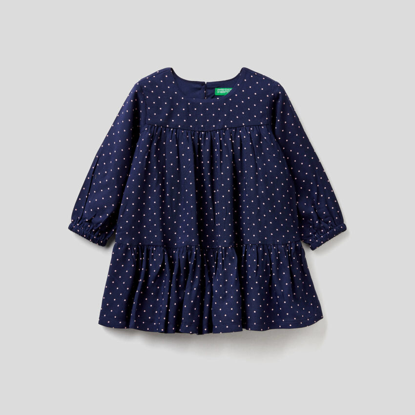 Patterned dress in sustainable viscose