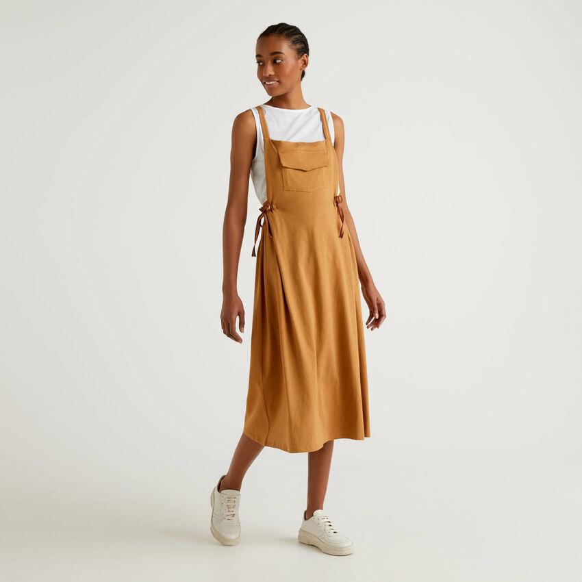 Flared overall skirt