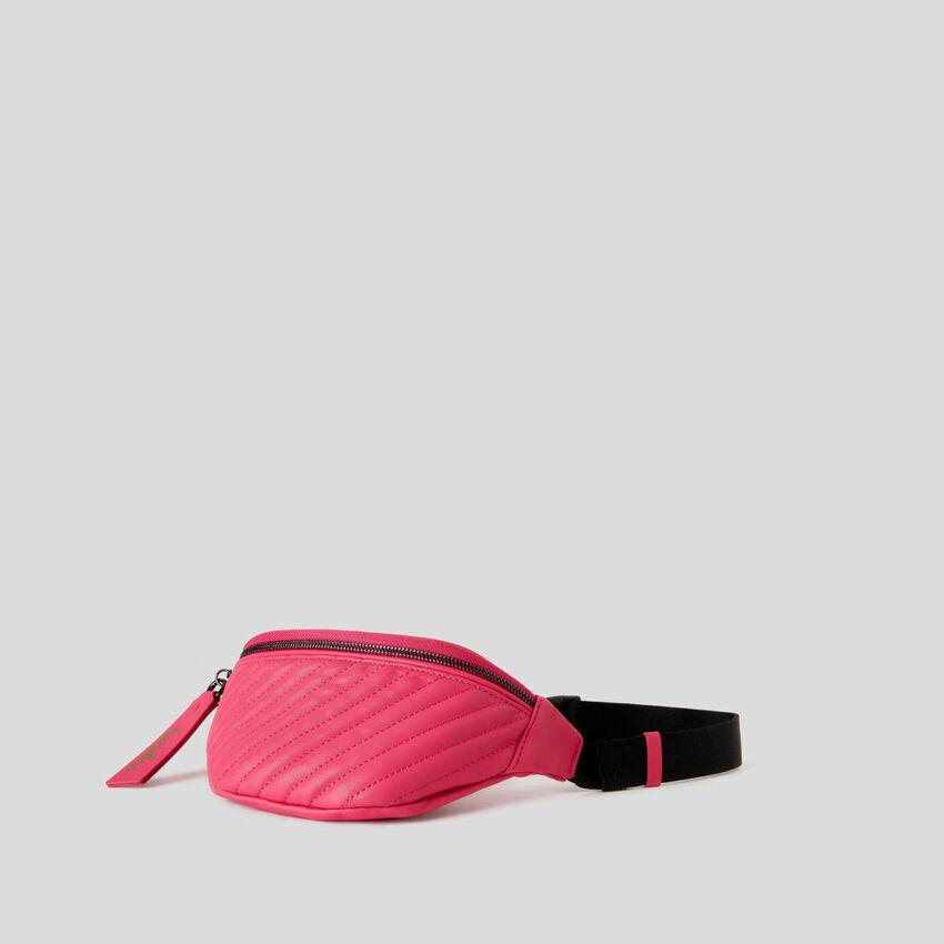 Striped matelassé bum bag