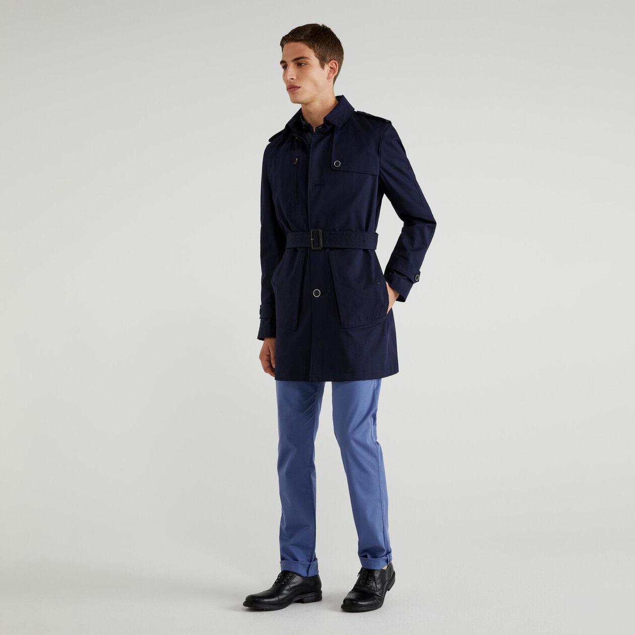 Slim fit trench coat