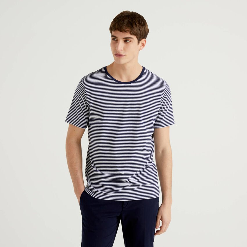 Striped t-shirt in pure cotton