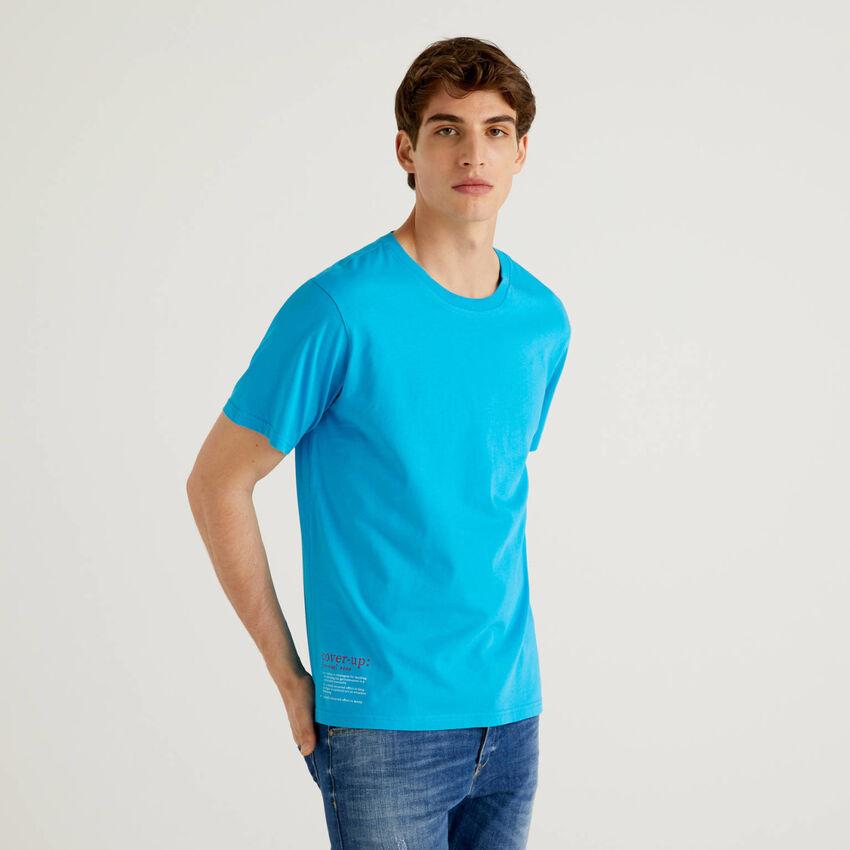 Cornflower blue 100% cotton with print