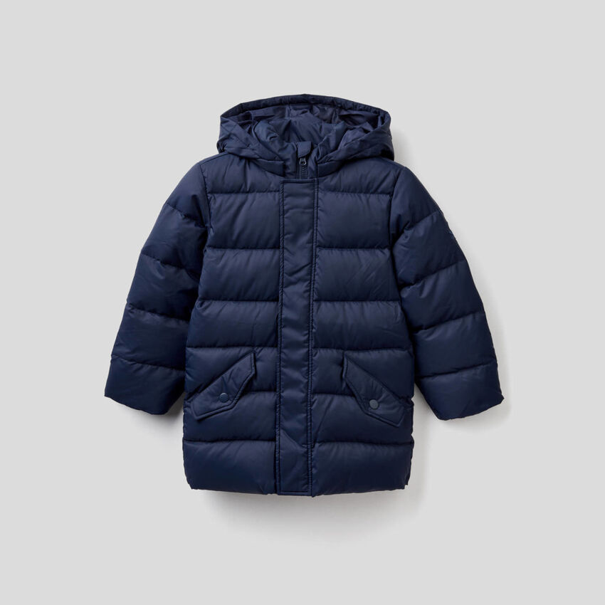 Padded jacket with removable hood