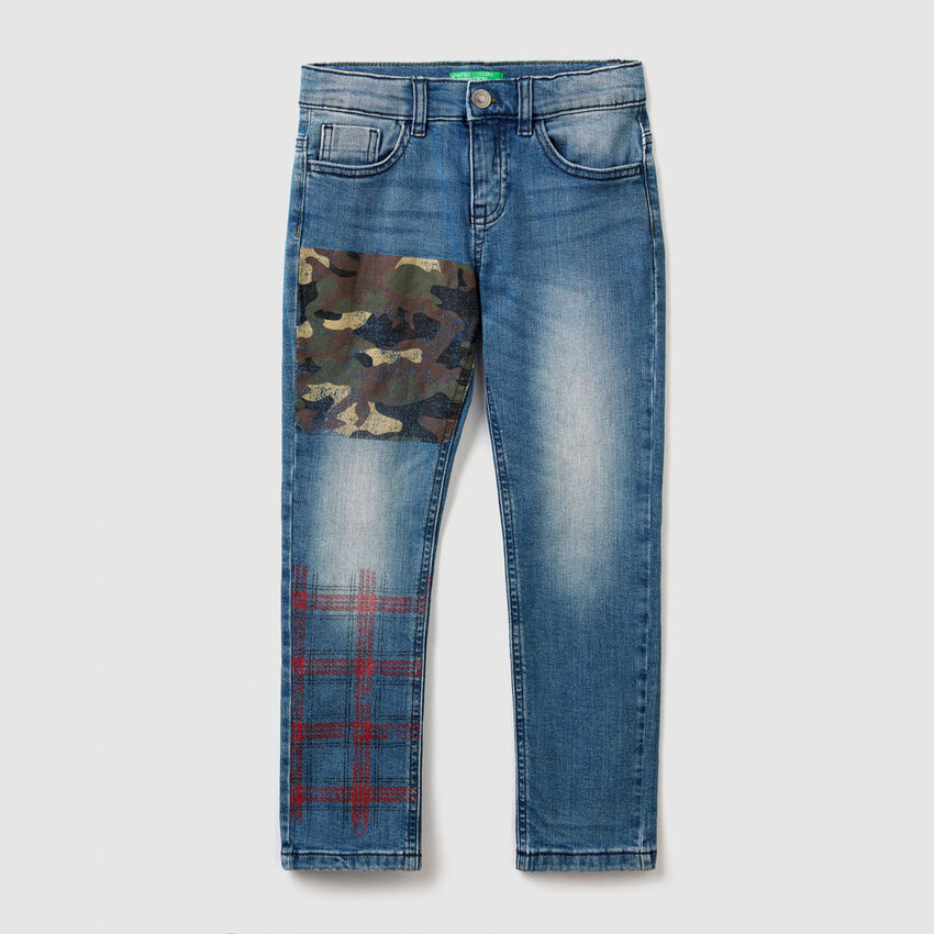 Slim fit jeans with printed details