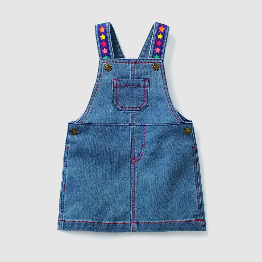 Denim overall skirt