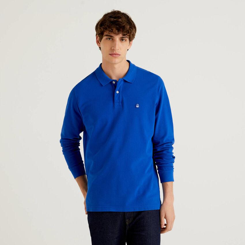Long sleeve 100% cotton polo