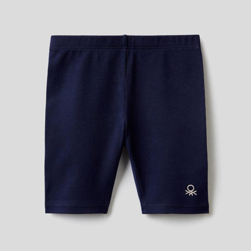 Leggings in stretch cotton