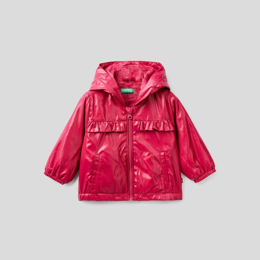 Jacket with rouches