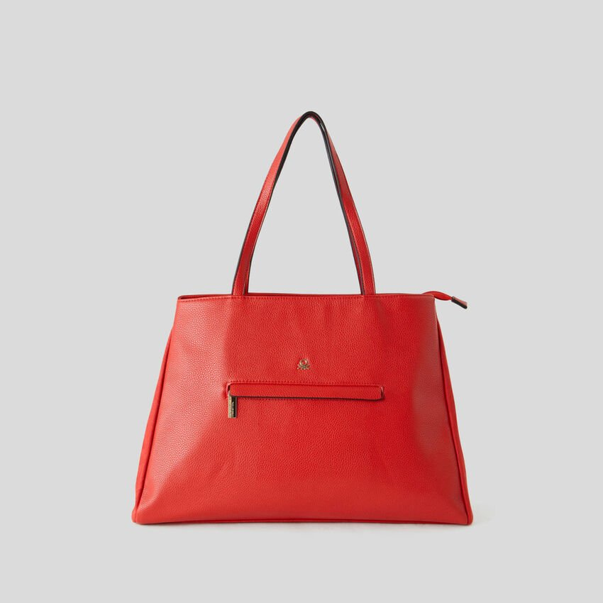 Shopping bag with two compartments