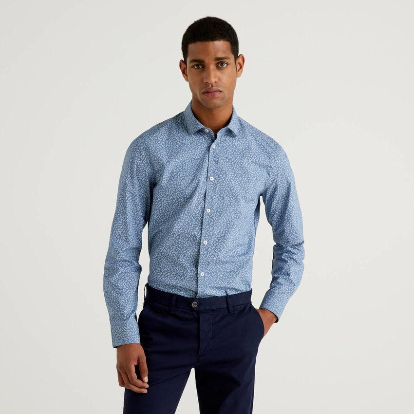 Slim fit printed shirt
