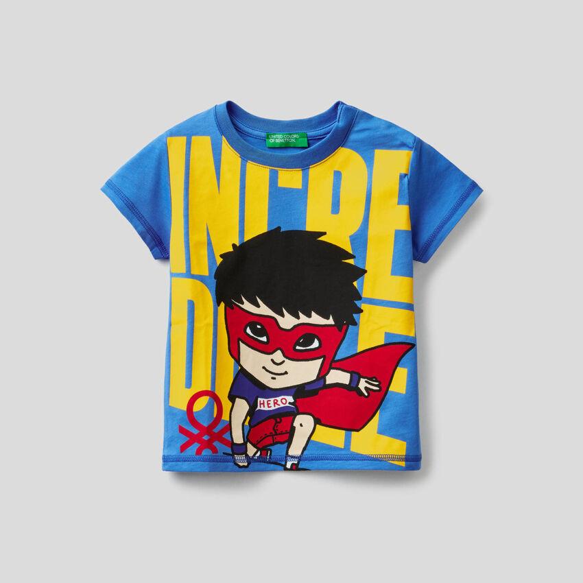 100% cotton t-shirt with superhero print