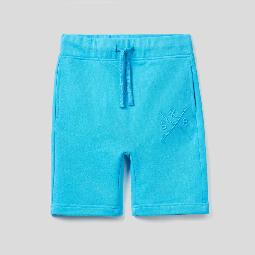 Sweat bermudas with embroidery