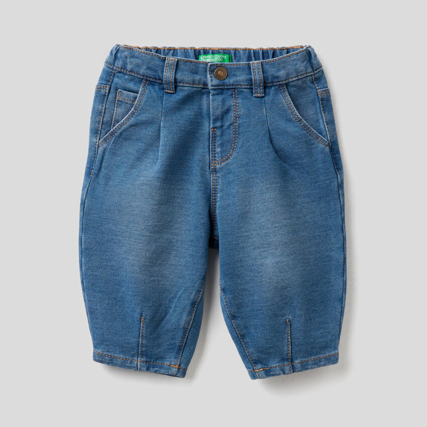 Slouchy denim look trousers