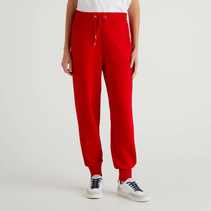 100% cotton sporty sweatpants