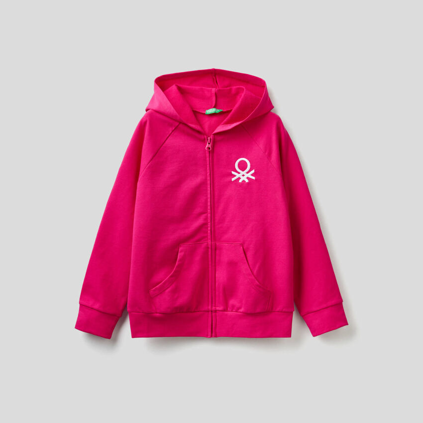 Hoodie with logo embroidery