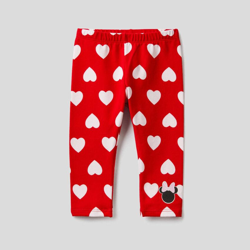 Red Disney print leggings