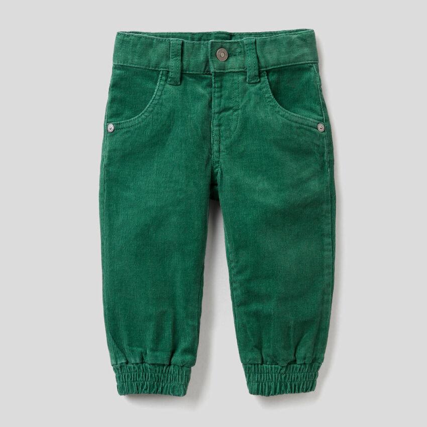 Stretch cotton velvet pants